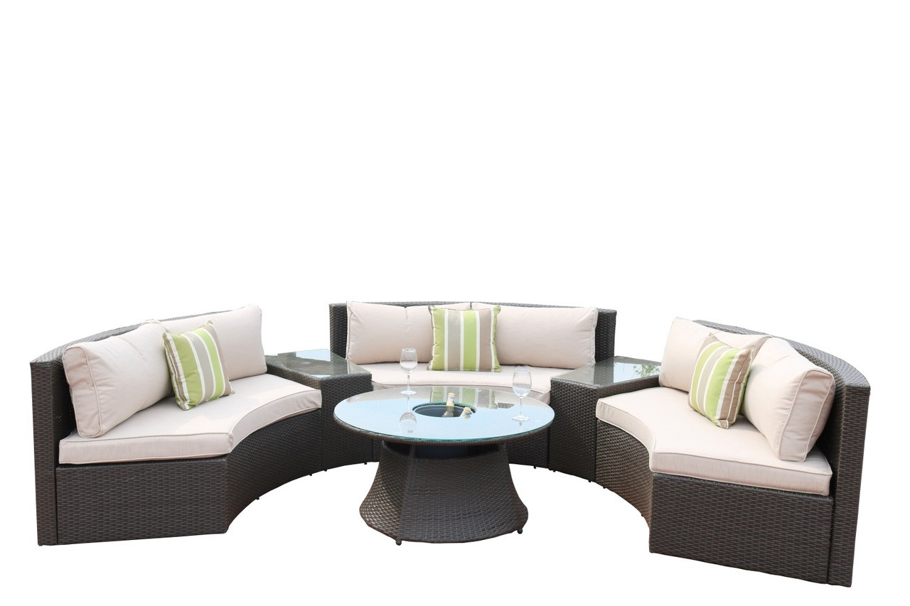 Baptist 6 Piece Rattan Sofa Set With Cushions Direct Wicker Jessica 6 Piece Rattan Sectional Set Cushions