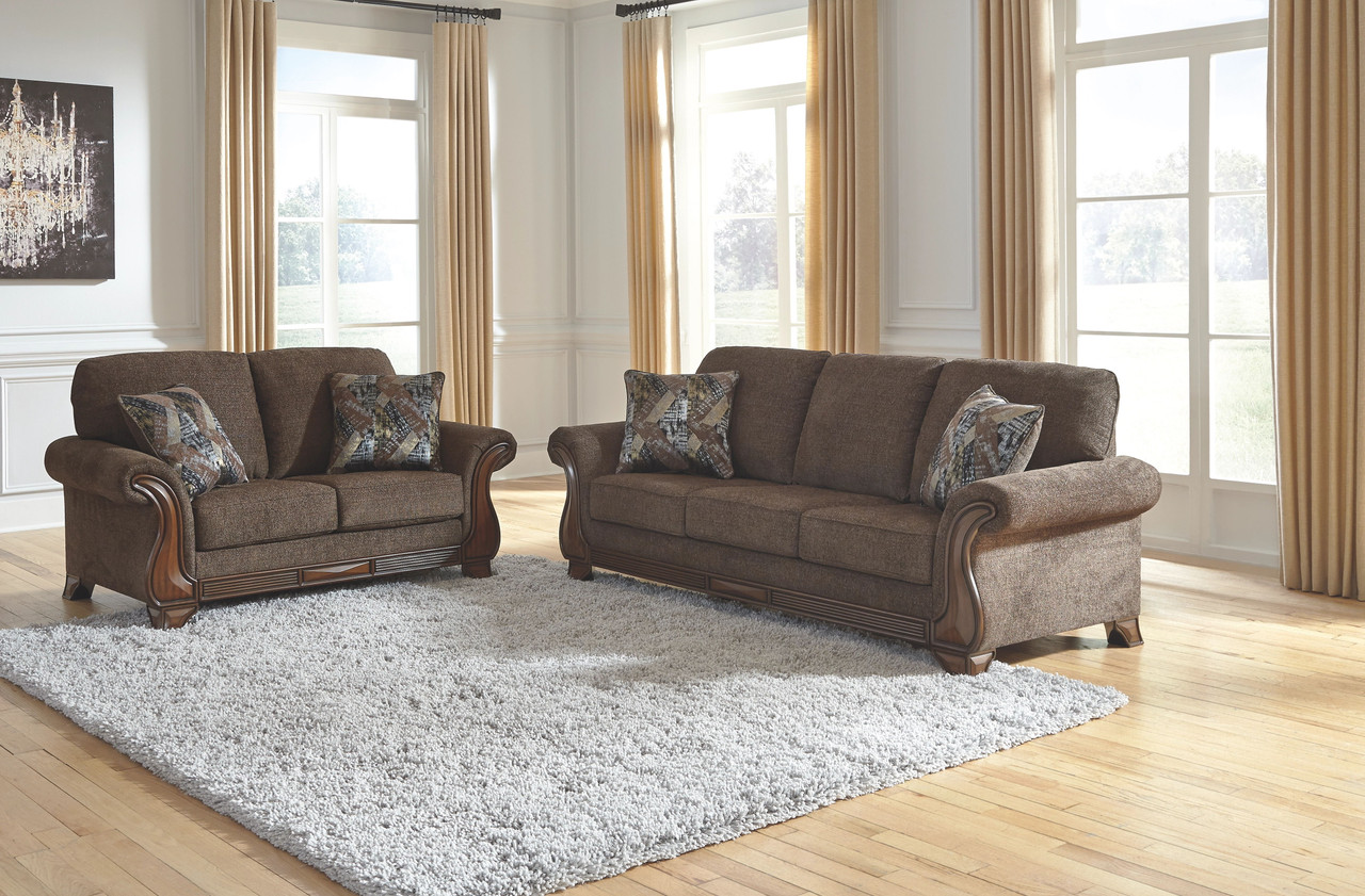 The Miltonwood Teak Sofa Loveseat Available At Dayton Discount Furniture Serving Vandalia Kettering And Springfield Ohio