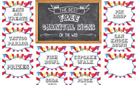 Final FREE Printable Carnival Signs