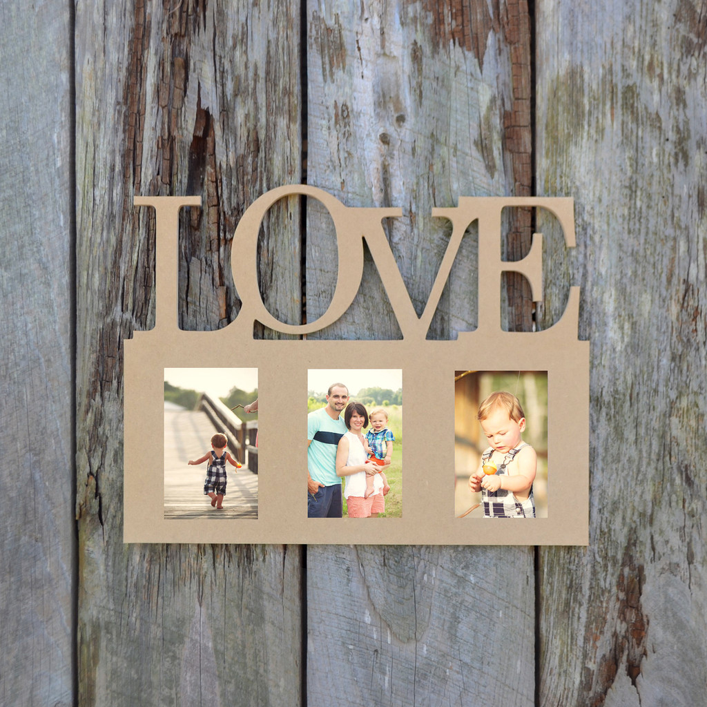 Diy Picture Frame Glass Love Photo Picture Frame Unfinished Diy