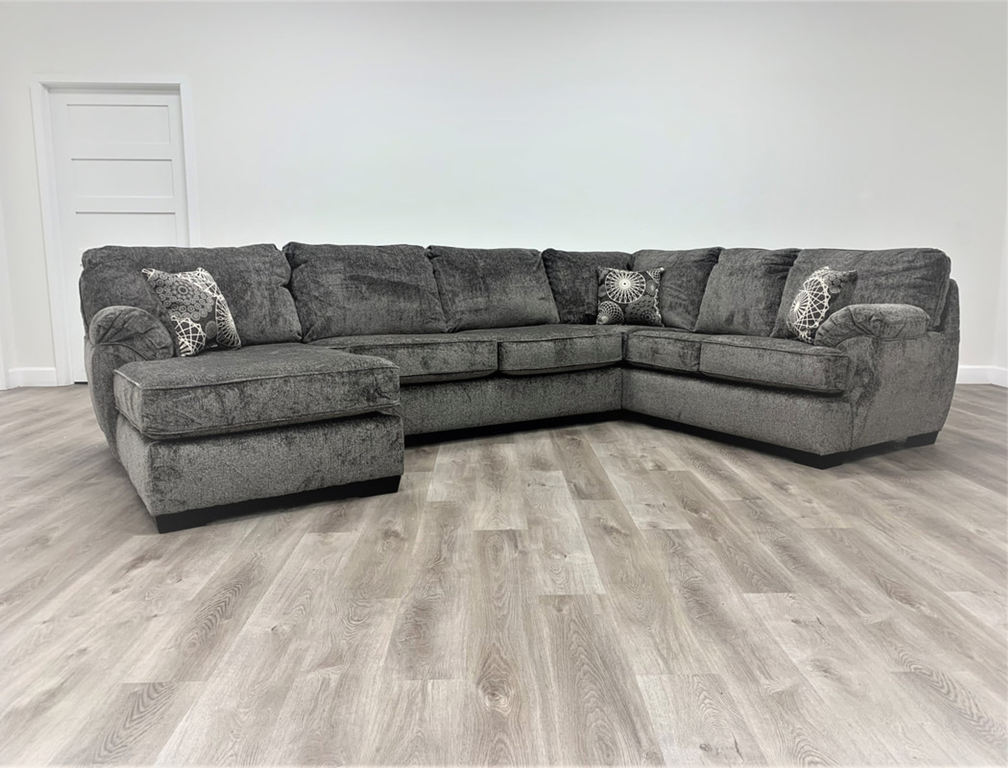 3 Pcs Brentwood Sectional Sofa In Grey Color Happy Home Industries Houston Texas Brentwood