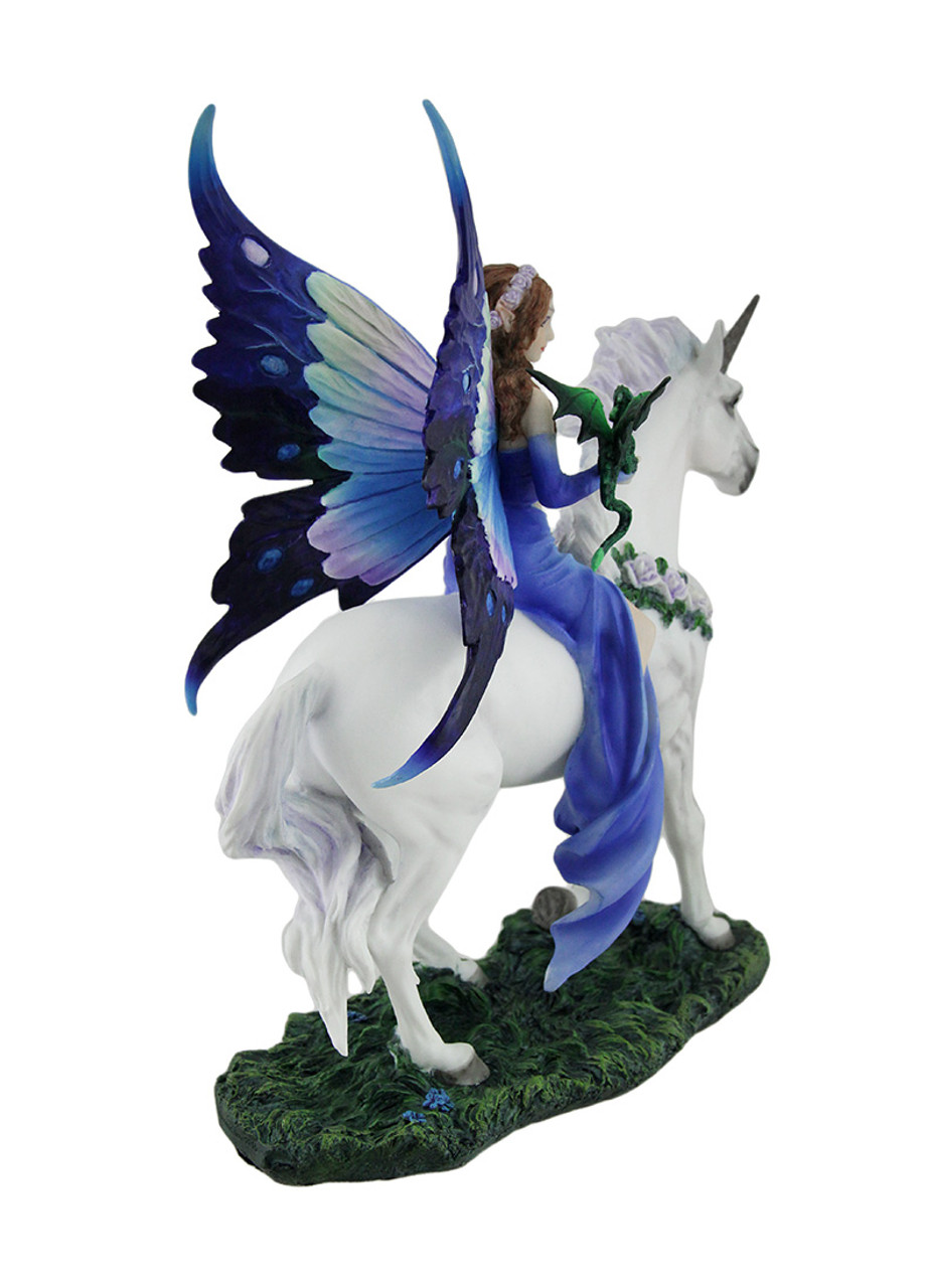 Faerie Statues Anne Stokes Realm Of Enchantment Blue Fairy Statue