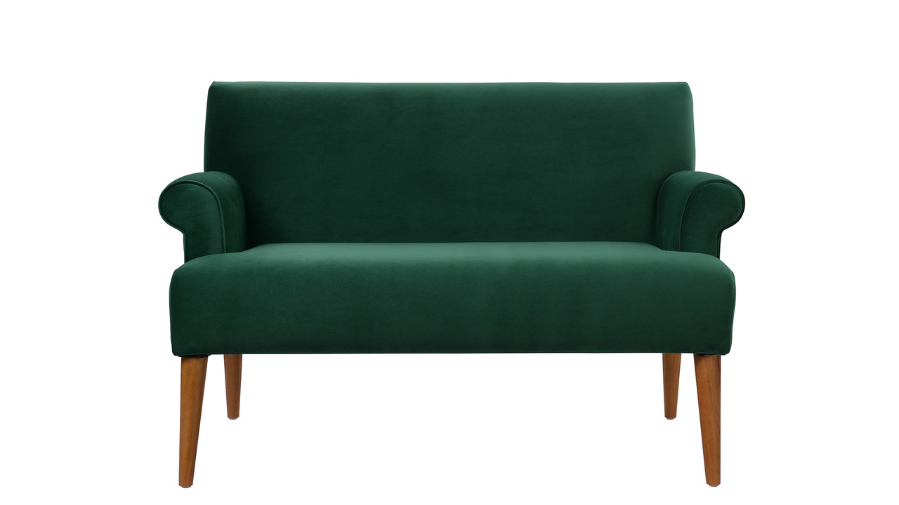 Settee No Arms Callie Roll Arm Settee Evergreen