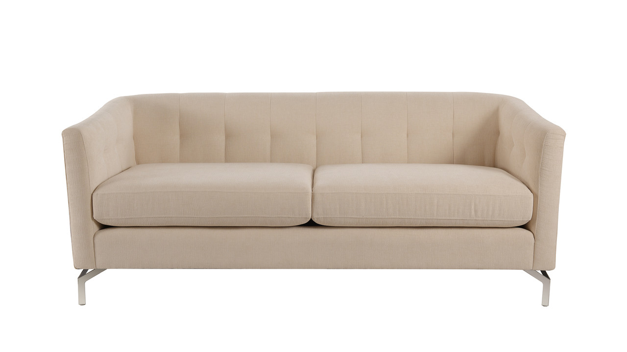 Contemporary Couch Arlene Modern Contemporary Sofa Crème Brulee