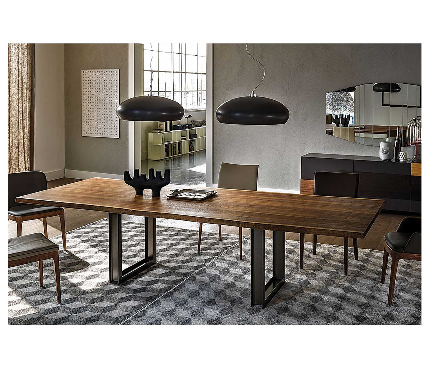 Modern Contemporary Basic Wood Dining Table Furniture Store Seattle