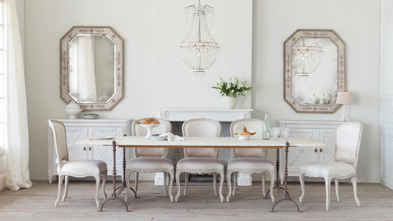 St Remy Eloquence Grande St Remy Table In Pickled White Finish