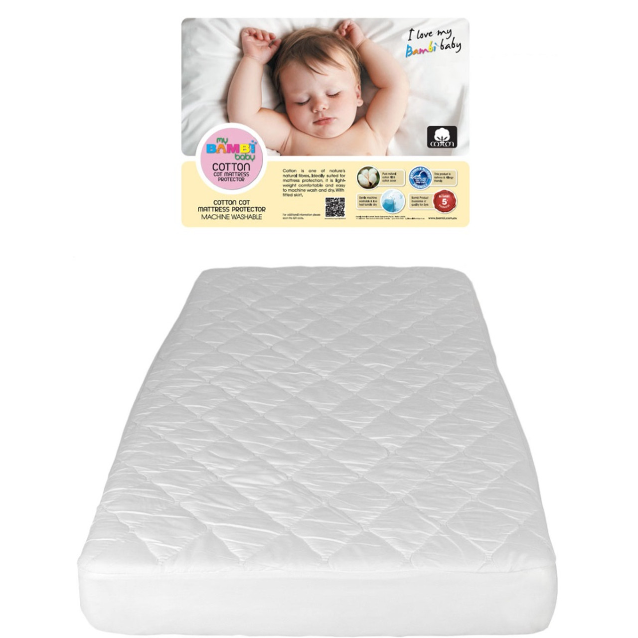 Mattress Cot Bambi Cotton Cot Mattress Protector