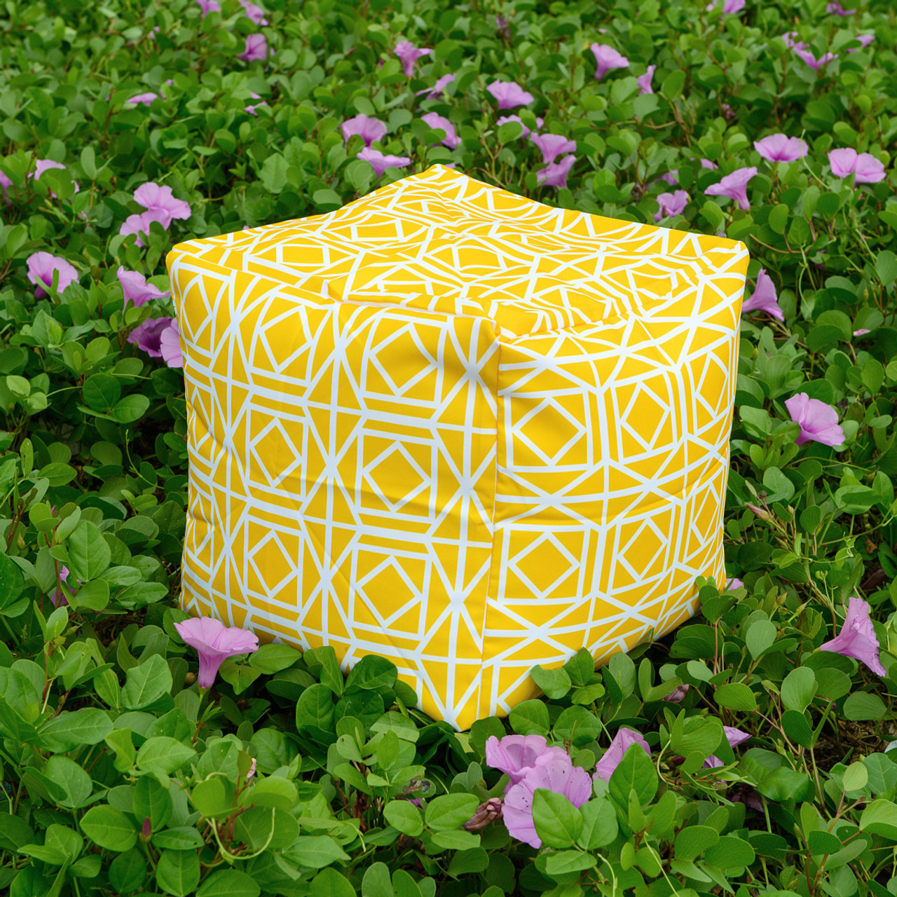 Abagail Yellow Pouf Ottoman Waterproof In Outdoor 16
