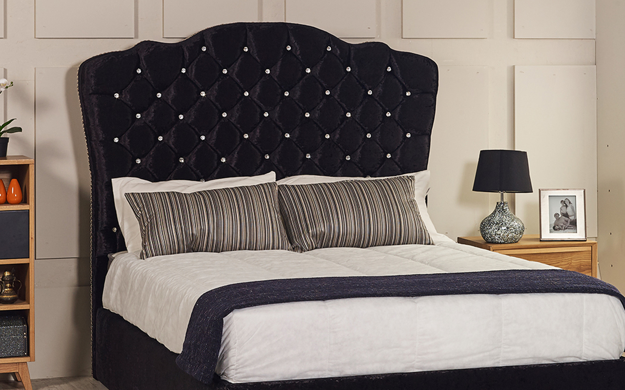 Bed Headboard Rochelle Bed Headboard Available In Crush Velvet Smooth Velvet Chenille Linen Or Faux Suede Fabrics