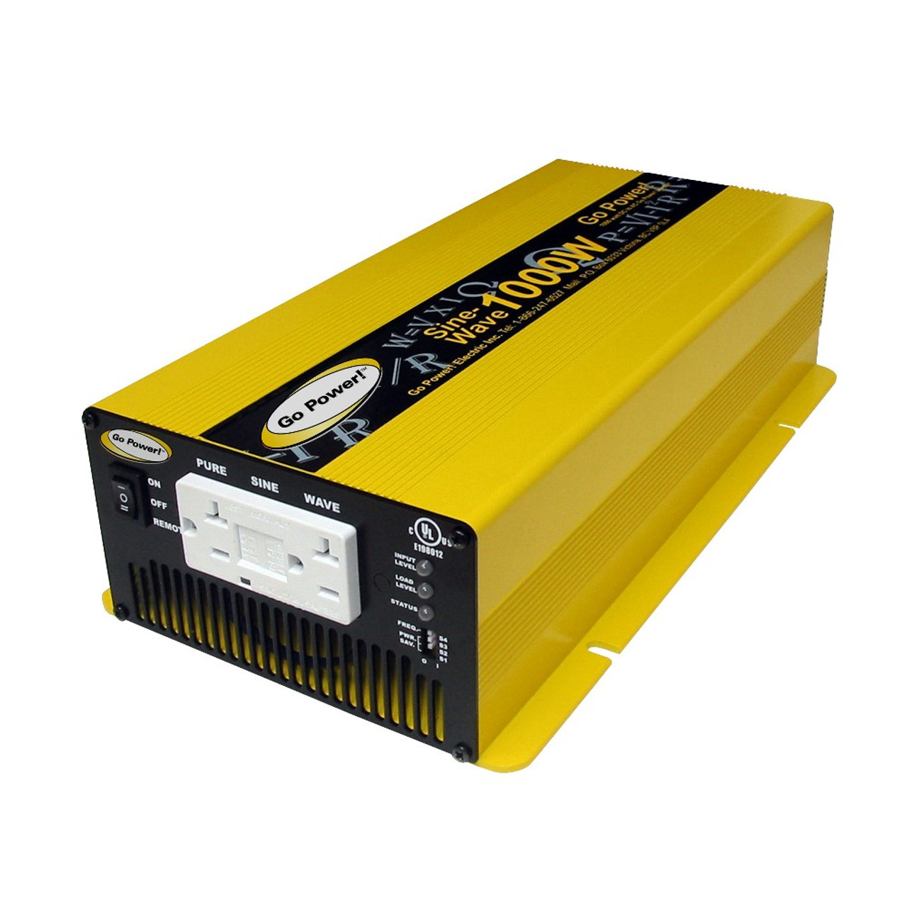 1000 Watt Pure Sine Wave Inverter Go Power 1000 Watt Pure Sine Wave Inverter 24v