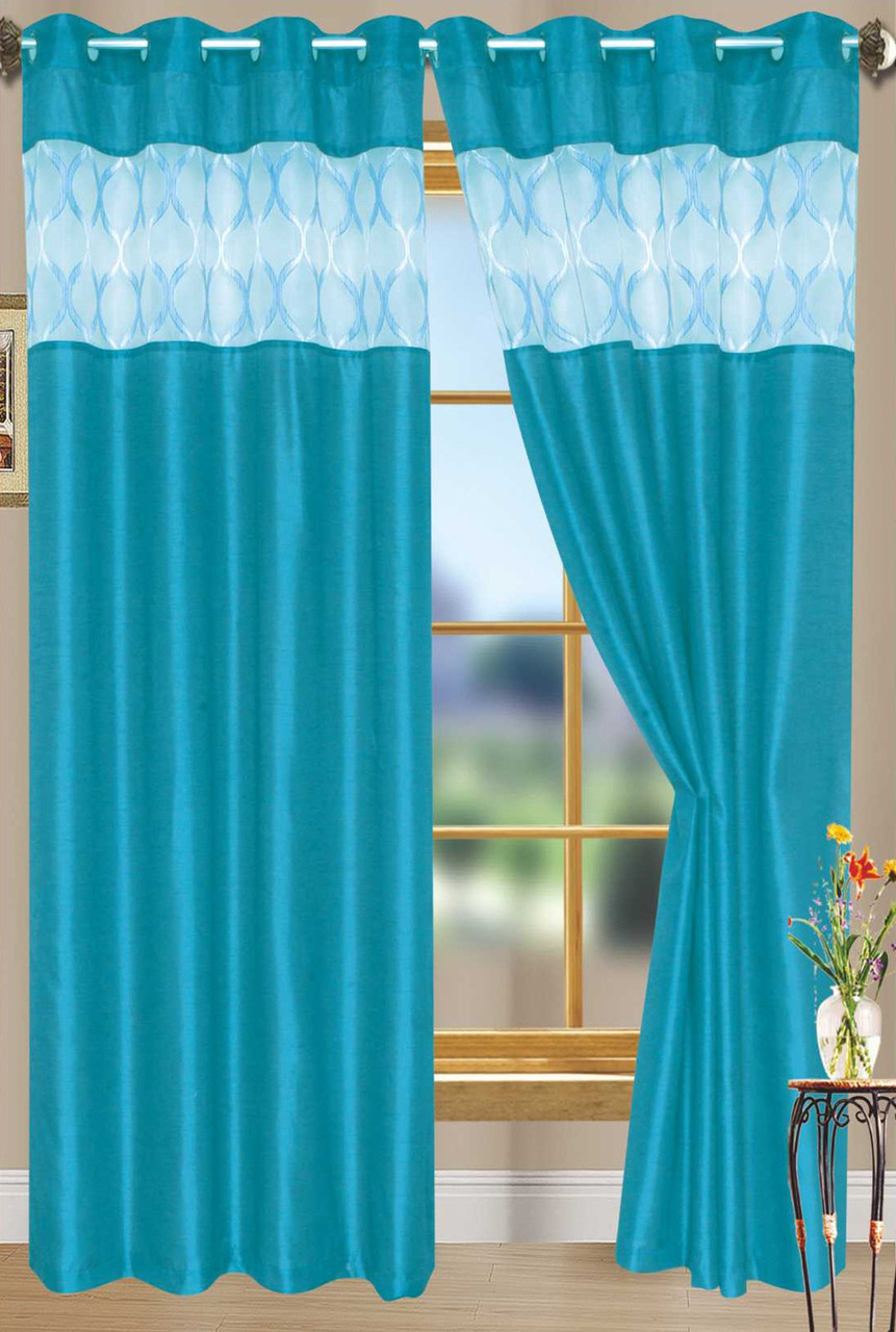 Faux Silk Curtains Bali Faux Silk Curtain Panel 2 Pack 54