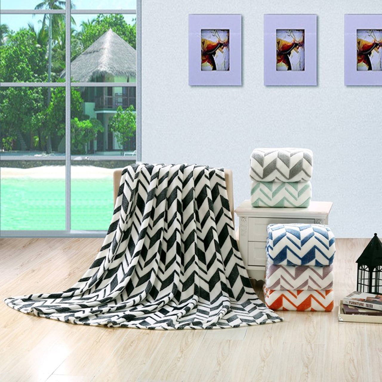 Throw Blankets Arrow Micro Plush Blankets Soft Light Weight Throw Blankets