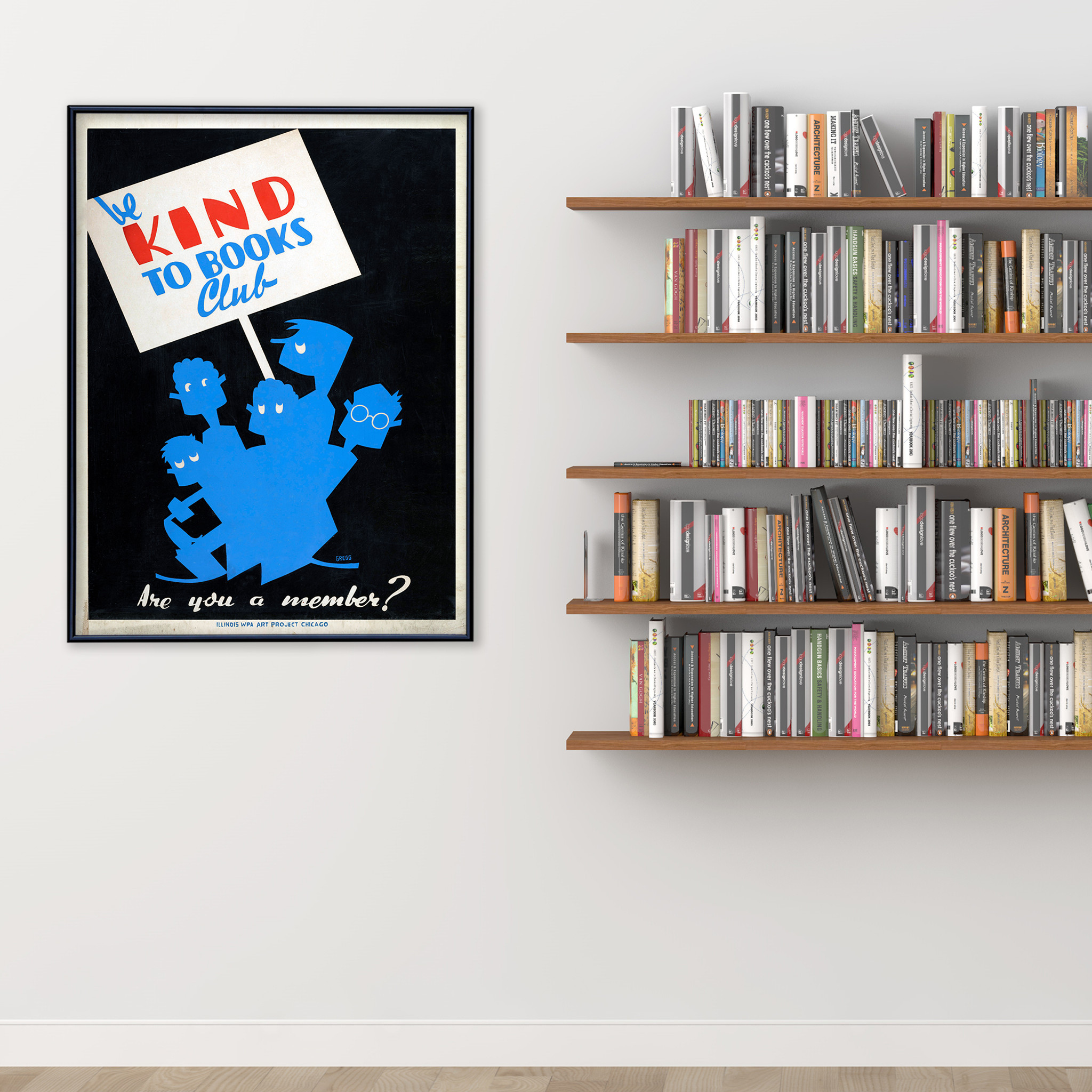 Home Office Club Be Kind To Books Club Print Fine Art Paper Laminated Or Framed Multiple Sizes For Library Home Office Or School