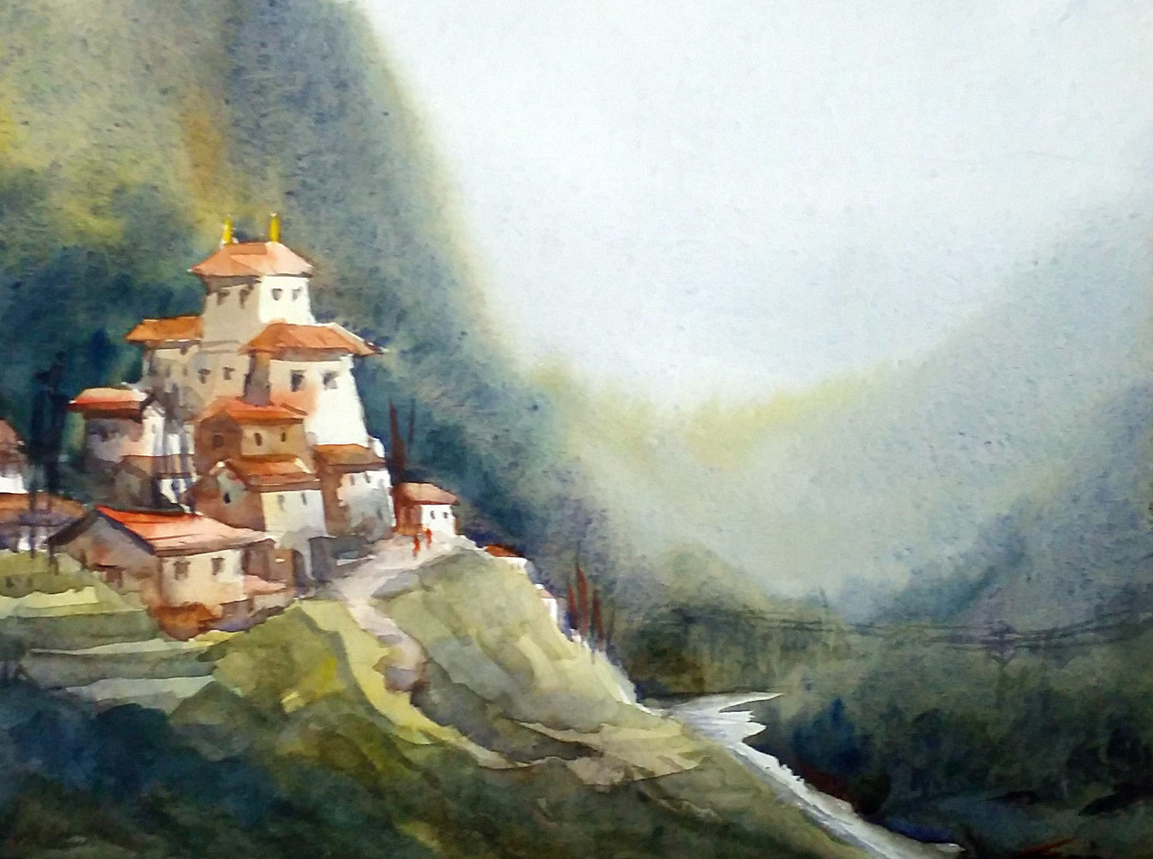 Jung Online Jung In Himalaya Art 1232 35298 Handpainted Art Painting 15in X 11in