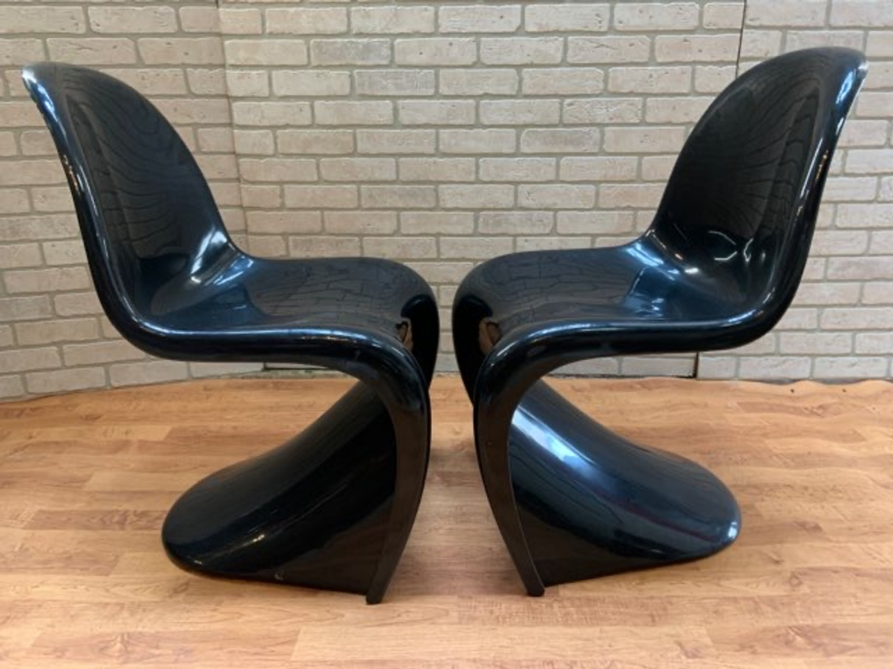 Mid Century Modern S Chairs By Verner Panton For Herman Miller Set Of 2 Vintage Grind House