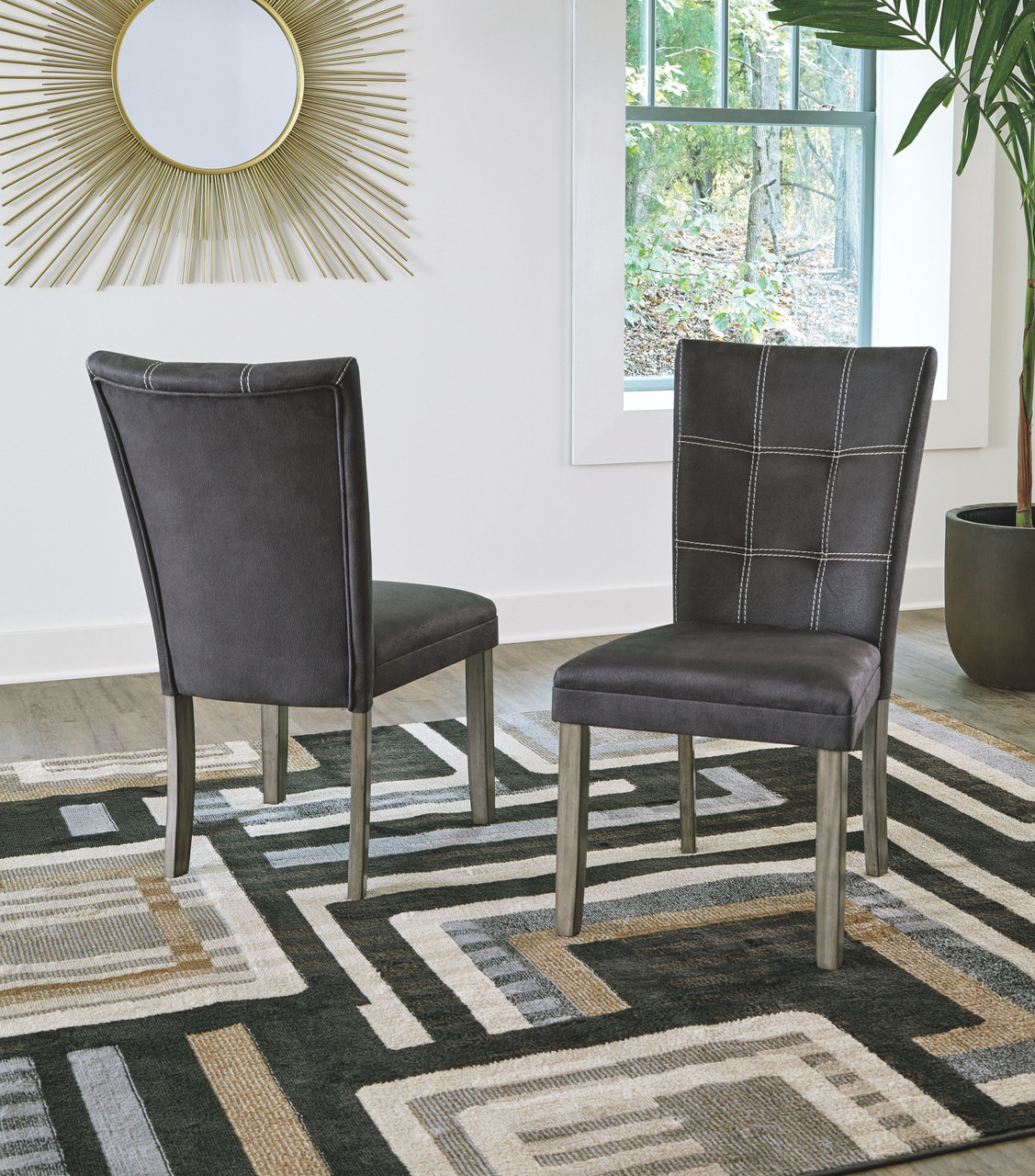The Dontally Two Tone Dining Upholstered Side Chair Available At Ritz Furniture Planet Serving Mississauga On