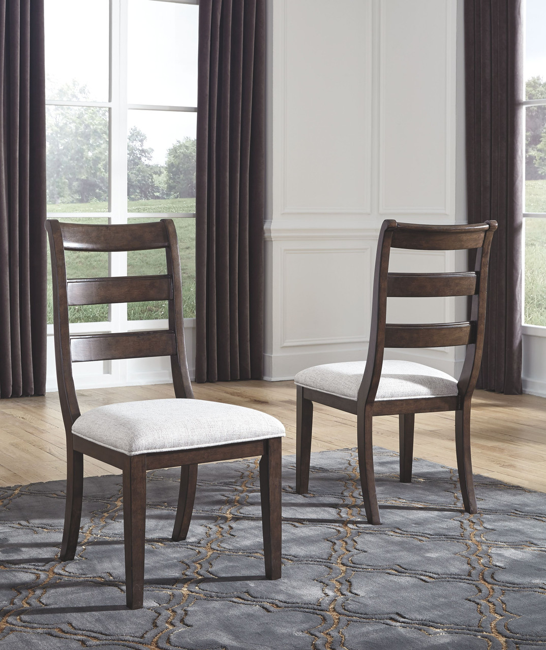 The Adinton Reddish Brown Dining Upholstered Side Chair 2 Cn Available At Ritz Furniture Planet Serving Mississauga On