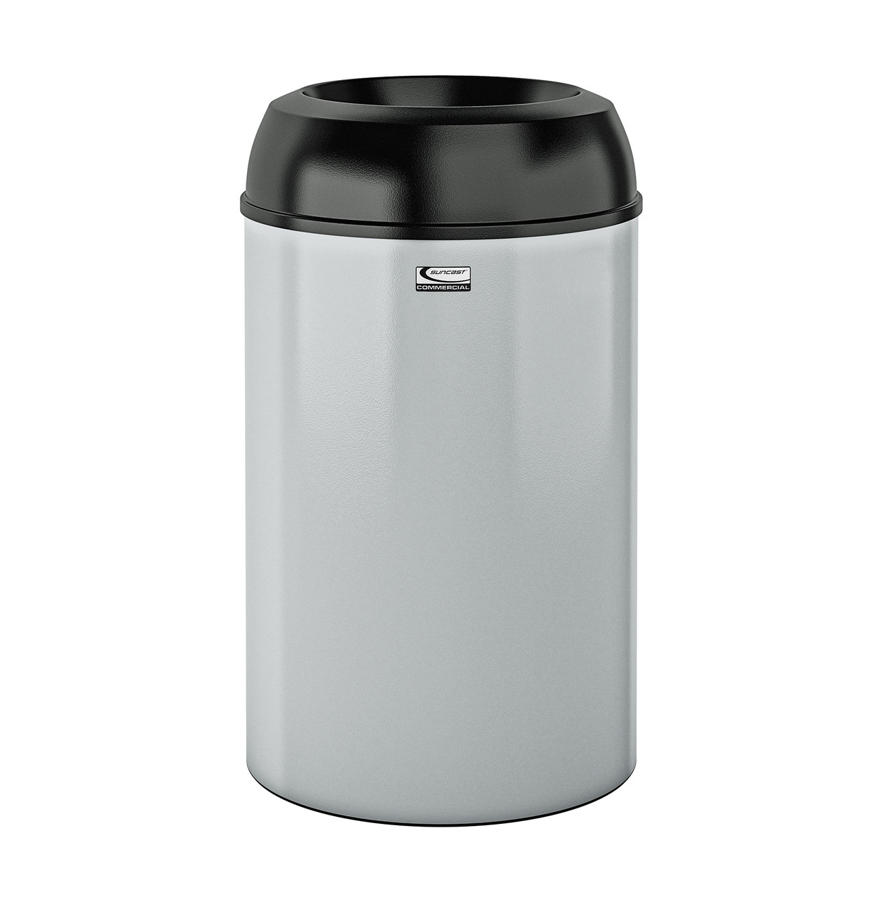 Metal Indoor Trash Can Suncast Metal Indoor Trash Can 30 Gallon Black Pc Lid Silver Pc Base