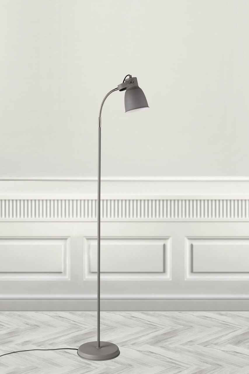 Adrian Grey Downward Floor Lamp