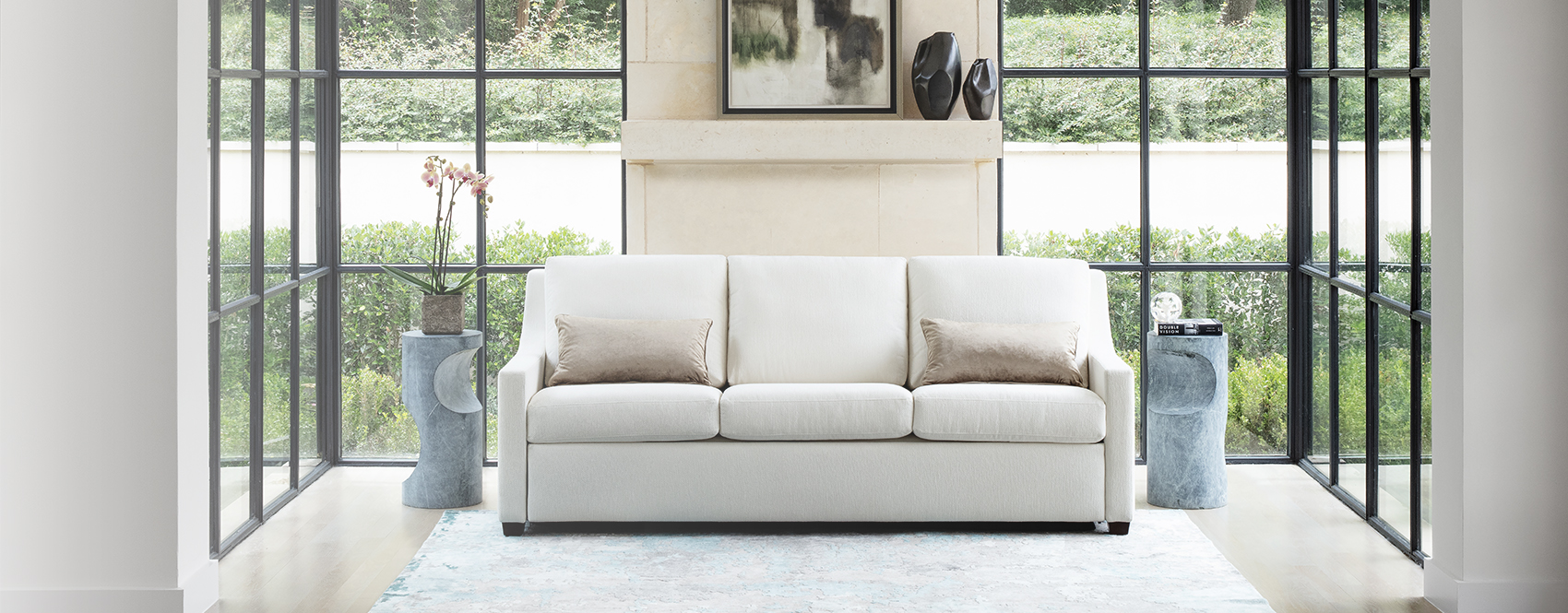 Designer Couch Klein American Leather