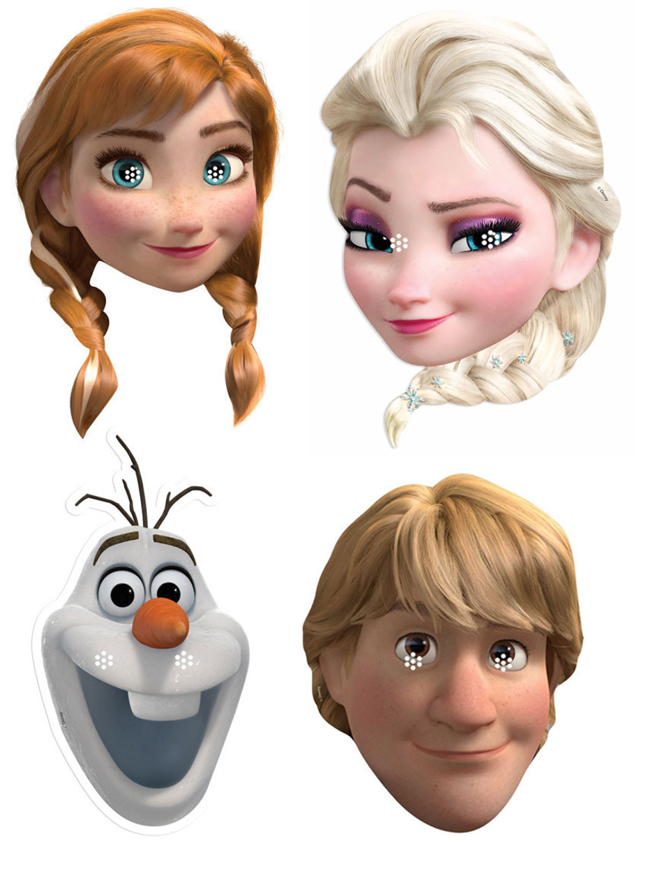 Elsa Anna Disney S Frozen Variety Party Face Mask Pack Of 4 Anna Elsa Olaf And Kristoff