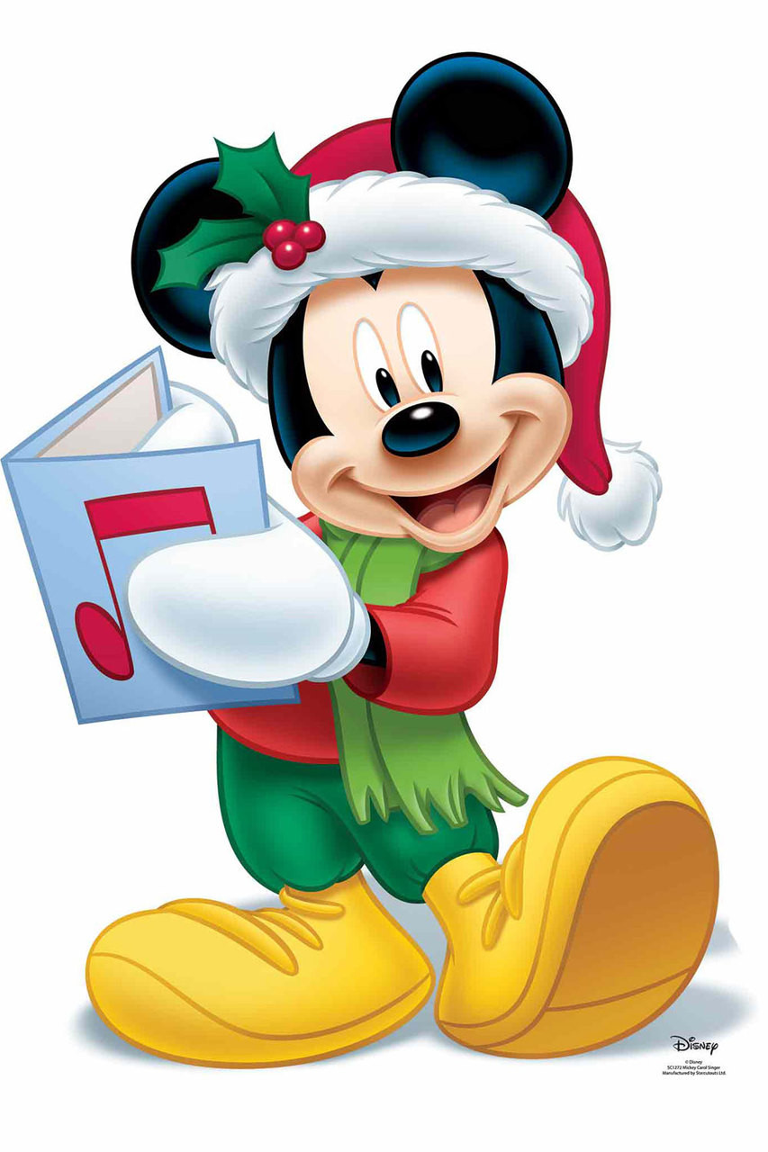 Disney Mickey Mickey Mouse Christmas Carol Official Disney Cardboard Cutout