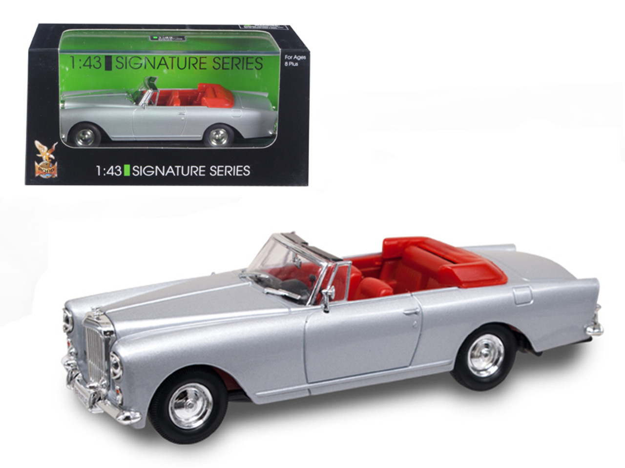 S2 Car Parking 1 43 Road Signature 1961 Bentley Continental S2 Park Ward Dhc Convertible Silver Diecast Car Model
