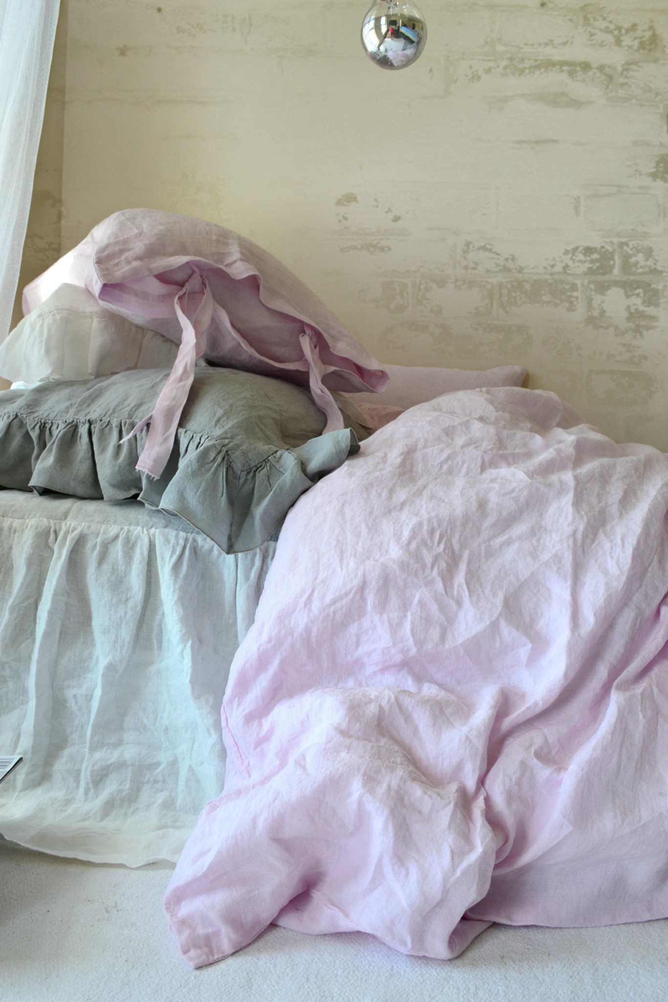 Pink Duvet Cover Dusty Pink Stonewashed Linen Duvet Cover