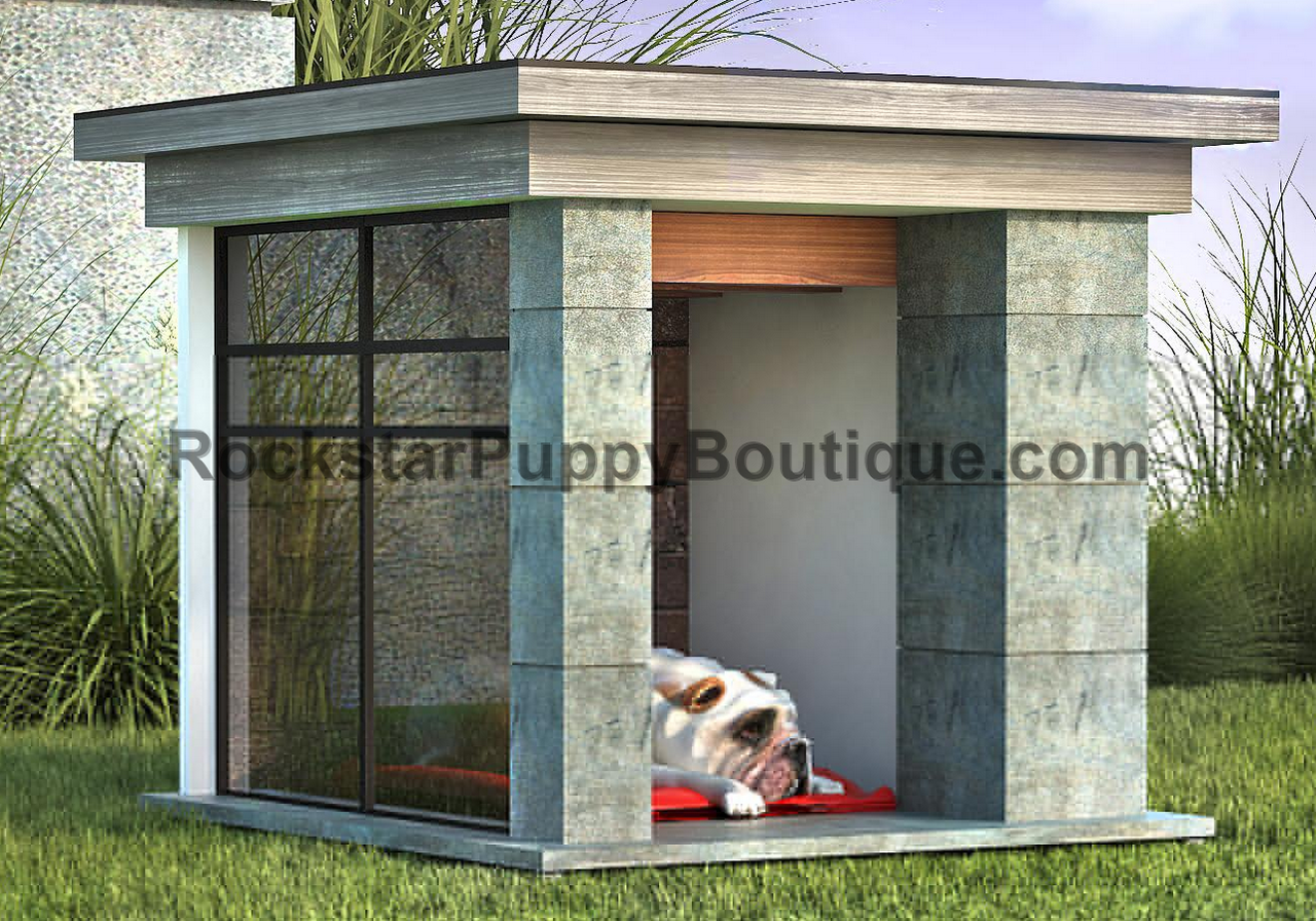 Dog House Contemporary Concrete And Glass Dog House