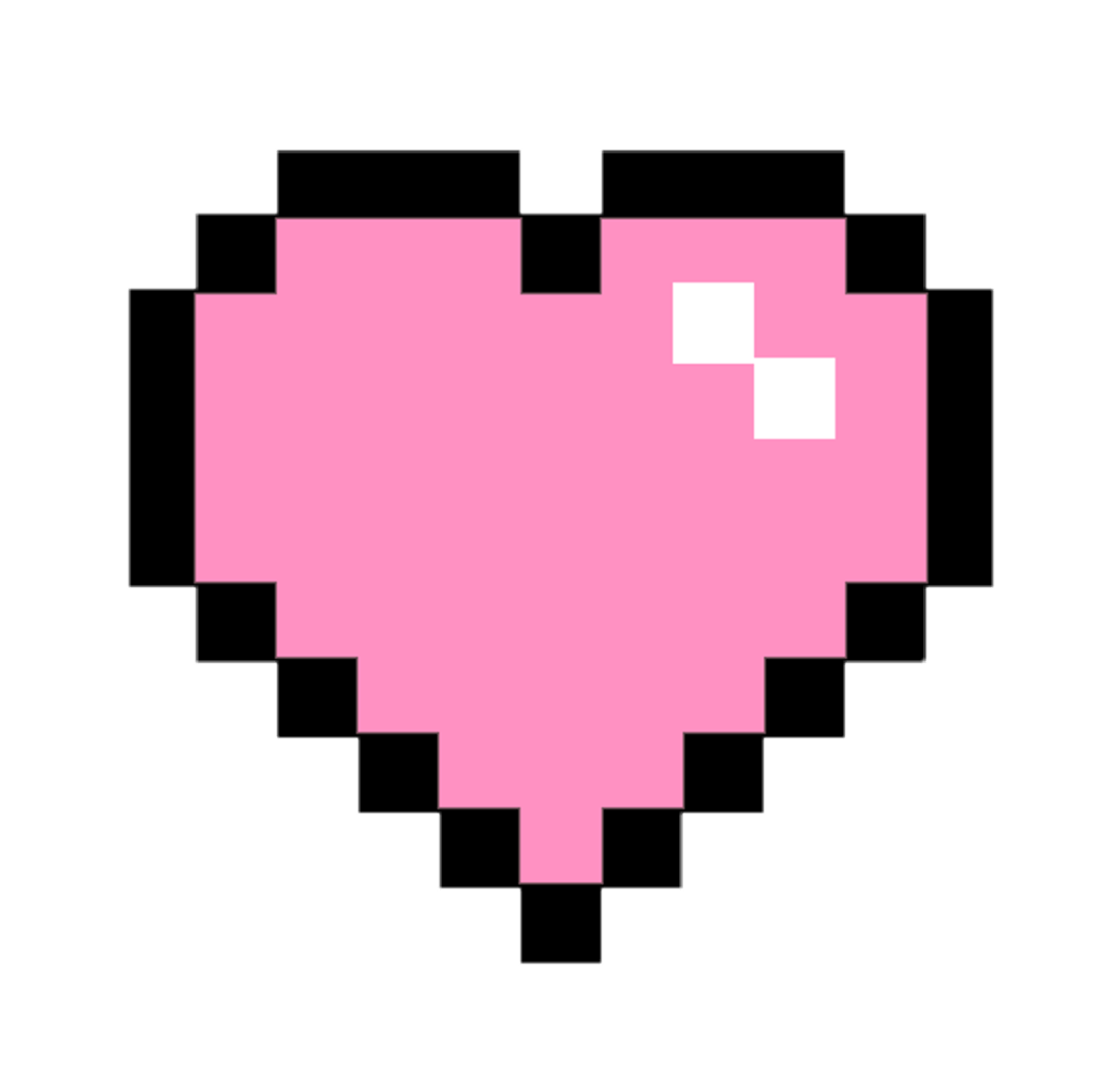 Tumblr Sticker Pastel Cute Kawaii Pixel Pastel Heart Sticker By Yuozukie