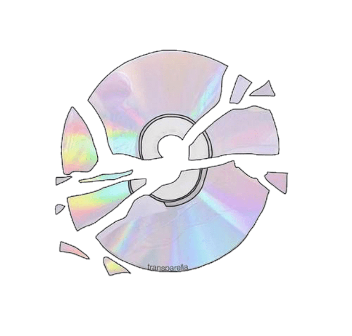 Tumblr Sticker Pastel Cd Tumblr Png Colour Broken Cute Pastel Computer