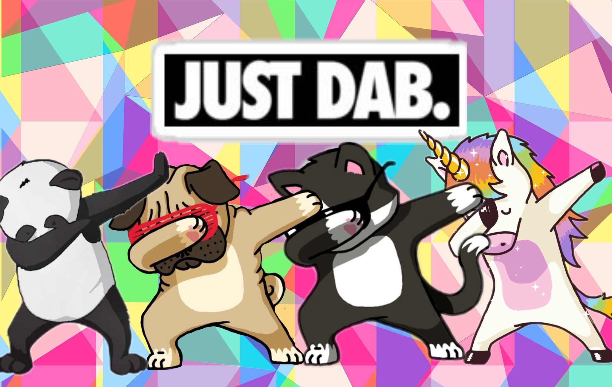 Cute Pug Wallpaper Cartoon Dab Dabbing Panda Unicorn Dog Cat
