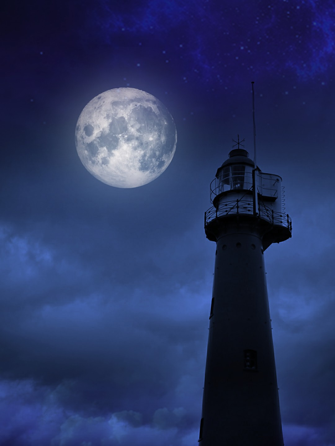 Lighthouse Background Freetoedit Moon Clouds Lighthouse Background Background