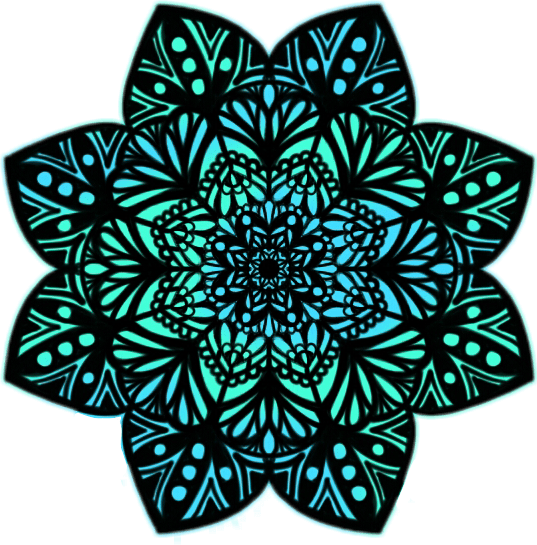Cute Wallpaper For Summer Sticker Mandalas Mandala Blue Green Tumblr