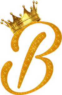 letters letter b gold crown royal...