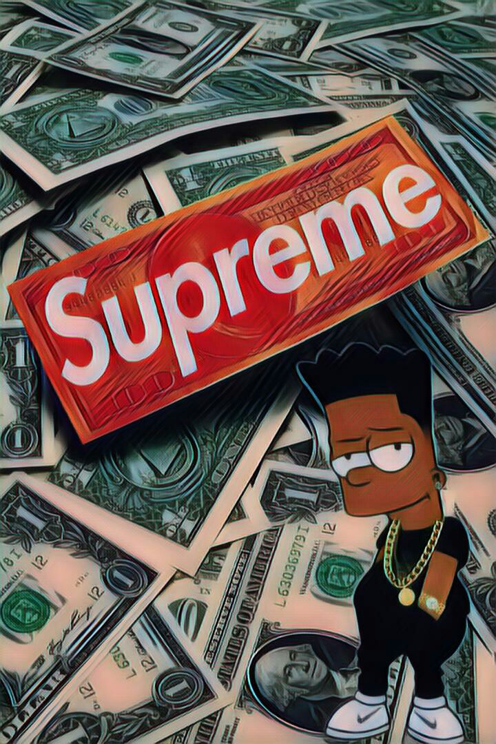 Best Wallpaper App For Iphone Bart Simpsons Supreme Lv Louisvuitton Dollar