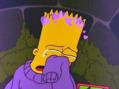 Alone Sad Girl Wallpaper For Pc Bartsimpson Flowers Sad Sweater Simpsons