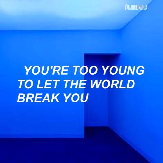 Girl Drinking Alcohol Wallpaper Bangtansonyeondan Bts Quote Blue Aesthetic