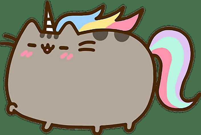Cute Cat Love Wallpaper Unicorn Pusheen Rainbow Sticker By Alissa Denae