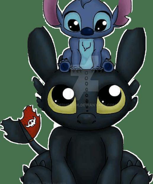 Cute Anime Couple Wallpaper Stitch Chimuelo Sticker By Luna17035