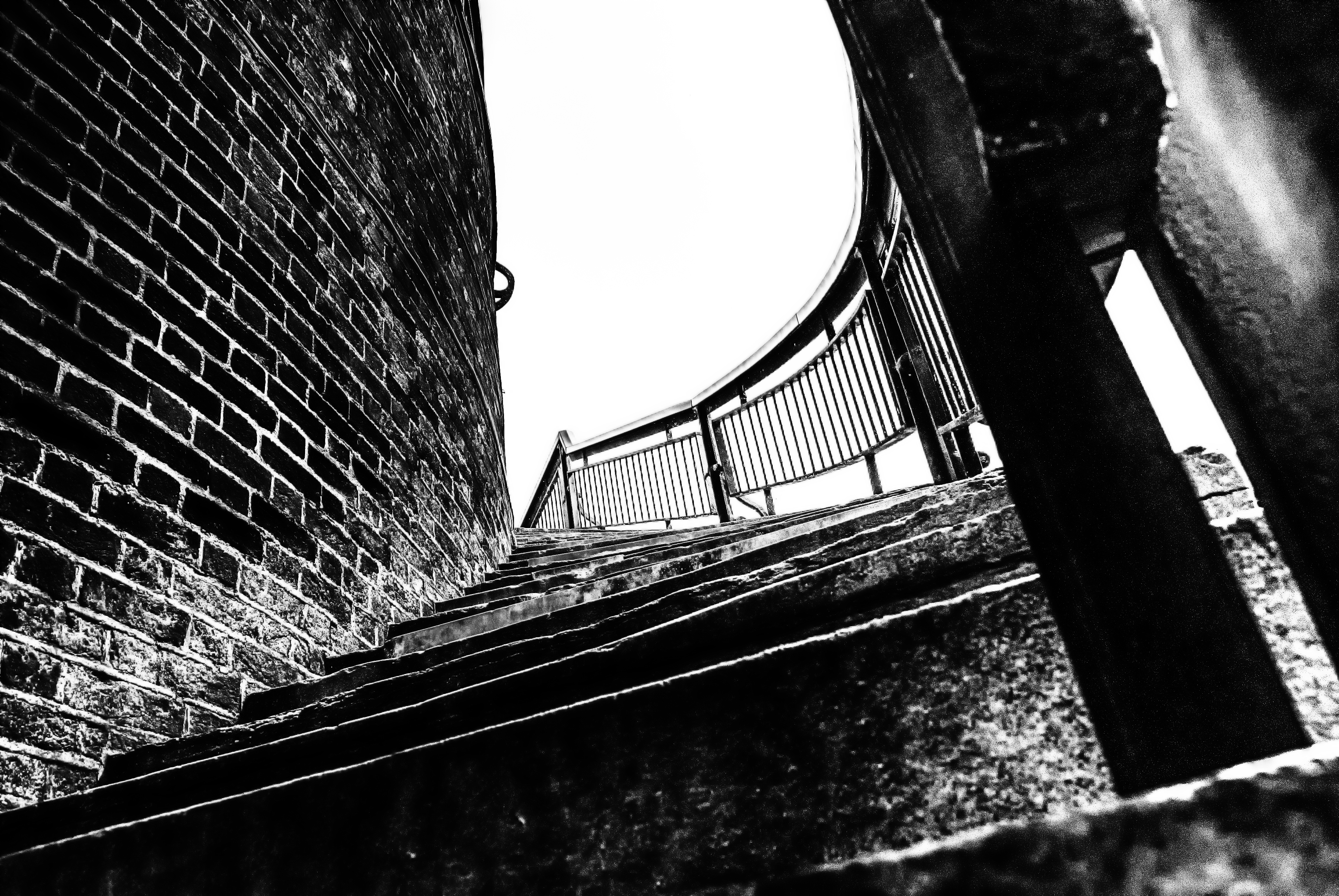 Castle Steps Castle Steps Stairs Blackandwhite Bw