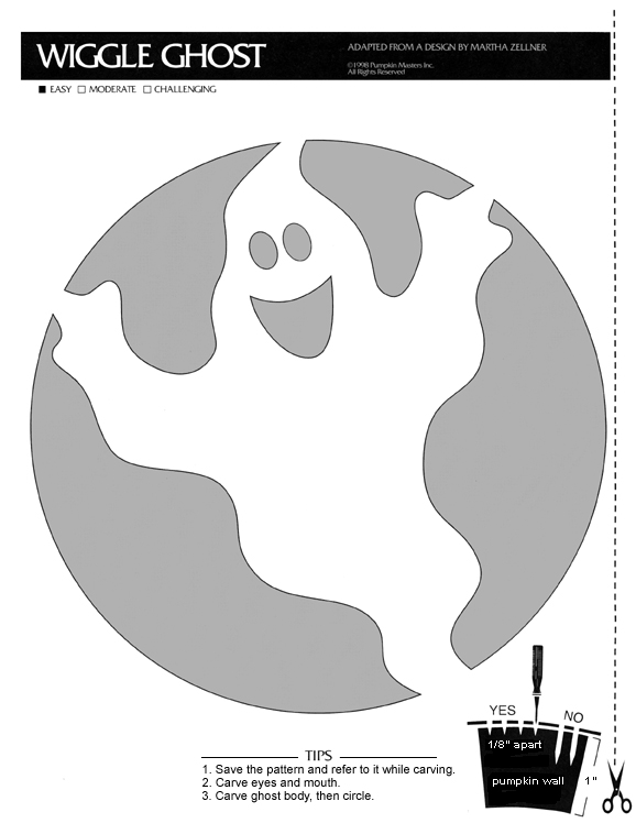 Ghost Pumpkin Template - Costumepartyrun
