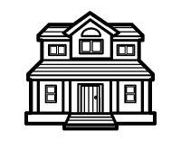 Una Casa Da Colorare Casa Famiglia Addams Da Colorare