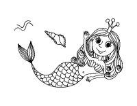 Disegno di Sirena salutando da Colorare - Acolore.com