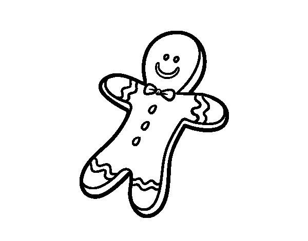 Disegno di Un biscotto di Natale da Colorare