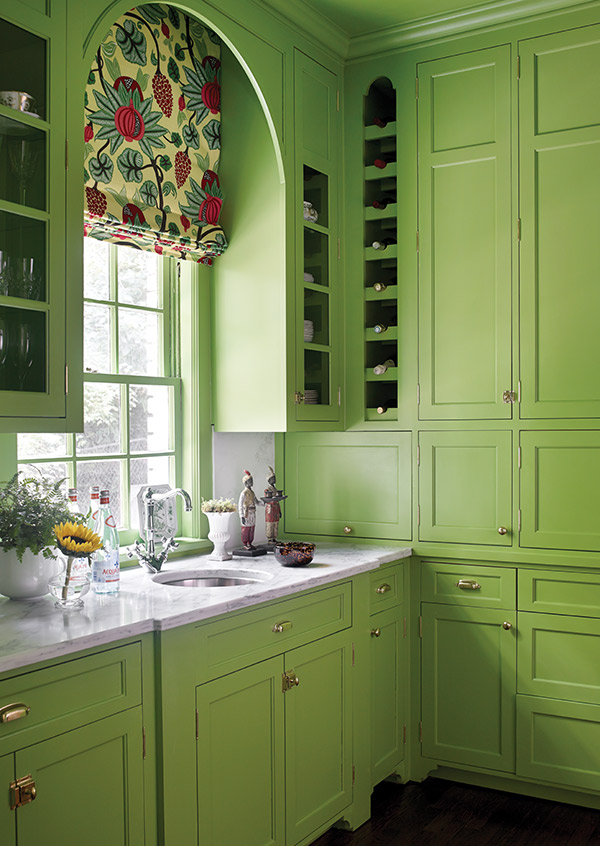 Modern Backsplash Tile A Playful Color Scheme Cooks Up A Preppy Vibe In This