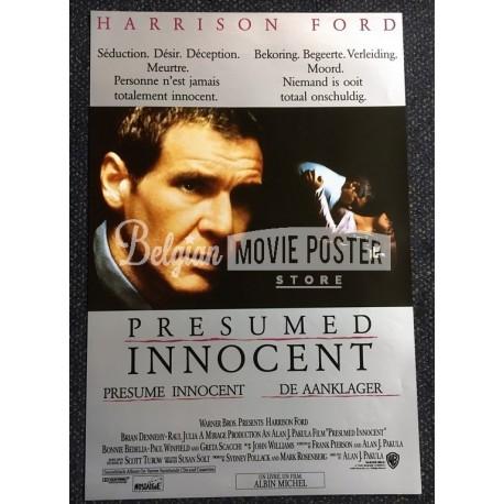 PRESUMED INNOCENT - Belgian Movie Poster Store