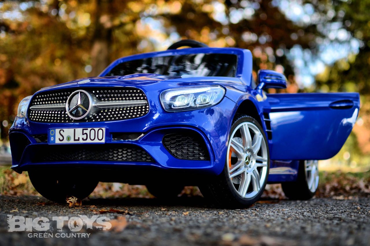 Car Rc Mercedes Benz Sl 500 Rc Ride On Car W Rubber Tires Rc Remote Blue