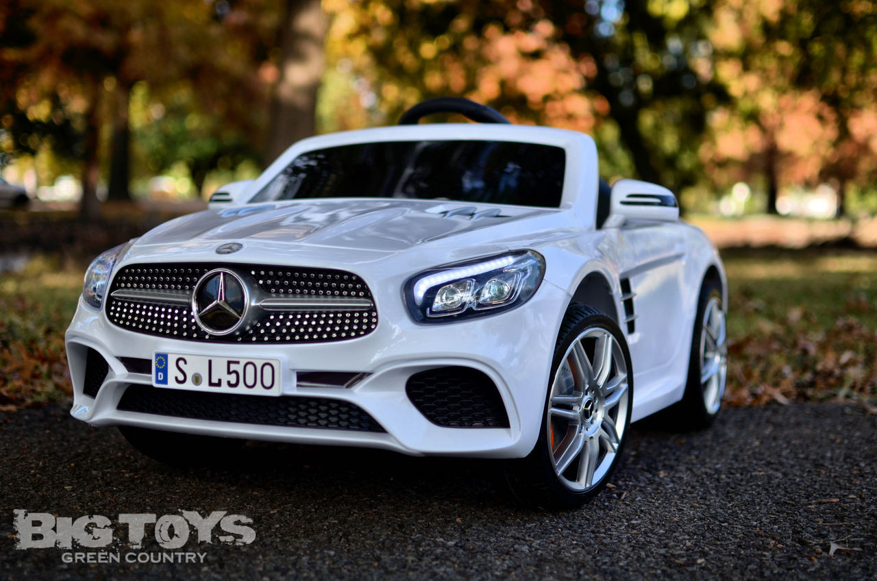Car Rc Mercedes Benz Sl 500 Rc Ride On Car W Rubber Tires Rc Remote White