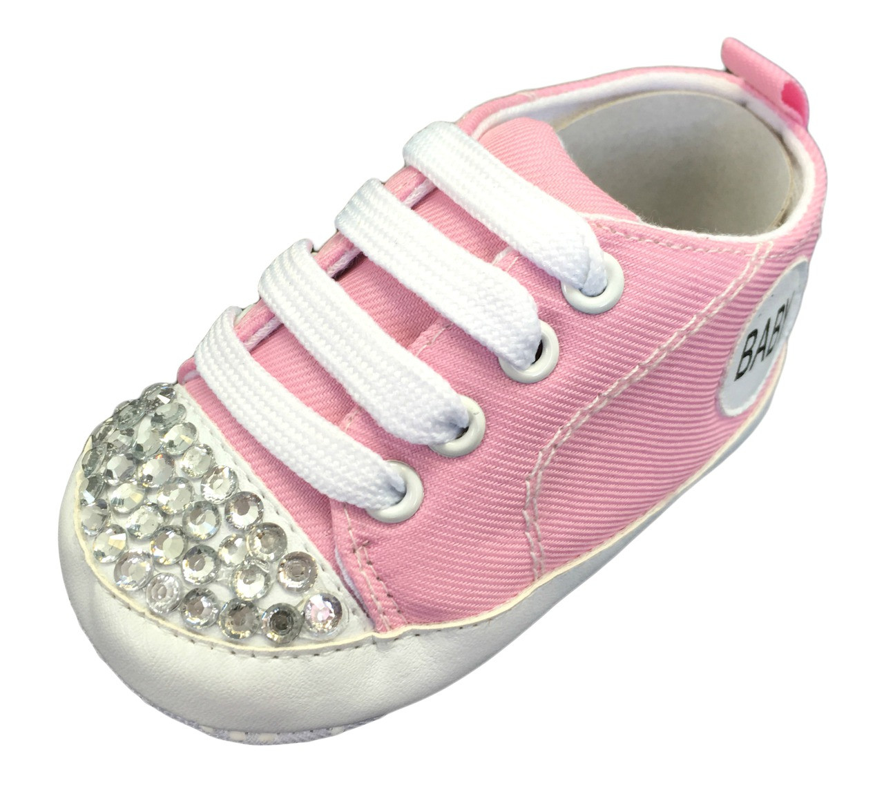 Infant Sneakers Light Pink Baby Sneakers With Rhinestones